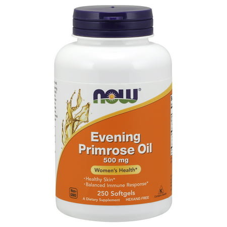 NOW Supplements, Evening Primrose Oil 500 mg with Naturally Occurring GLA (Gamma-Linolenic Acid), 250