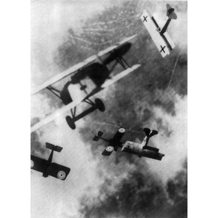 Wwi German And British Dogfight Poster Print By Science Source