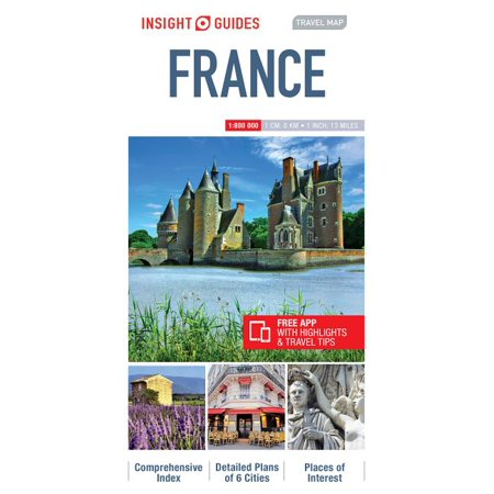 Insight Guides Travel Map France France Wine Region Map