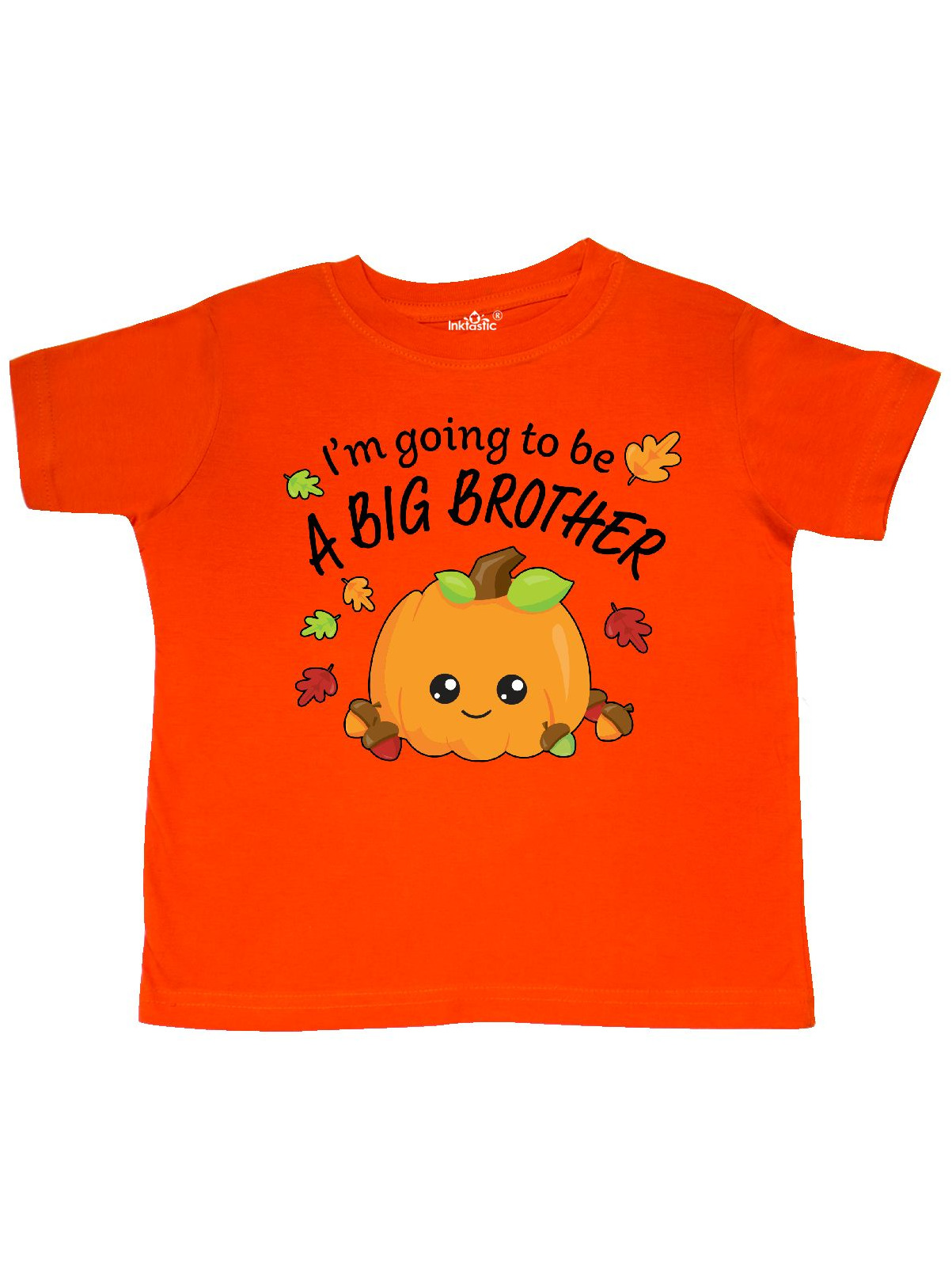 I'm Going to be a Big Brother- cute Halloween pumpkin Toddler T-Shirt