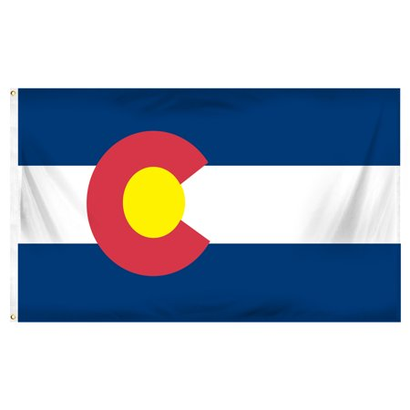 Colorado 3ft x 5ft Printed Polyester (Colorado Flag Merchandise Flag)