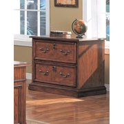 Executive Lateral File in Red Oak Finish