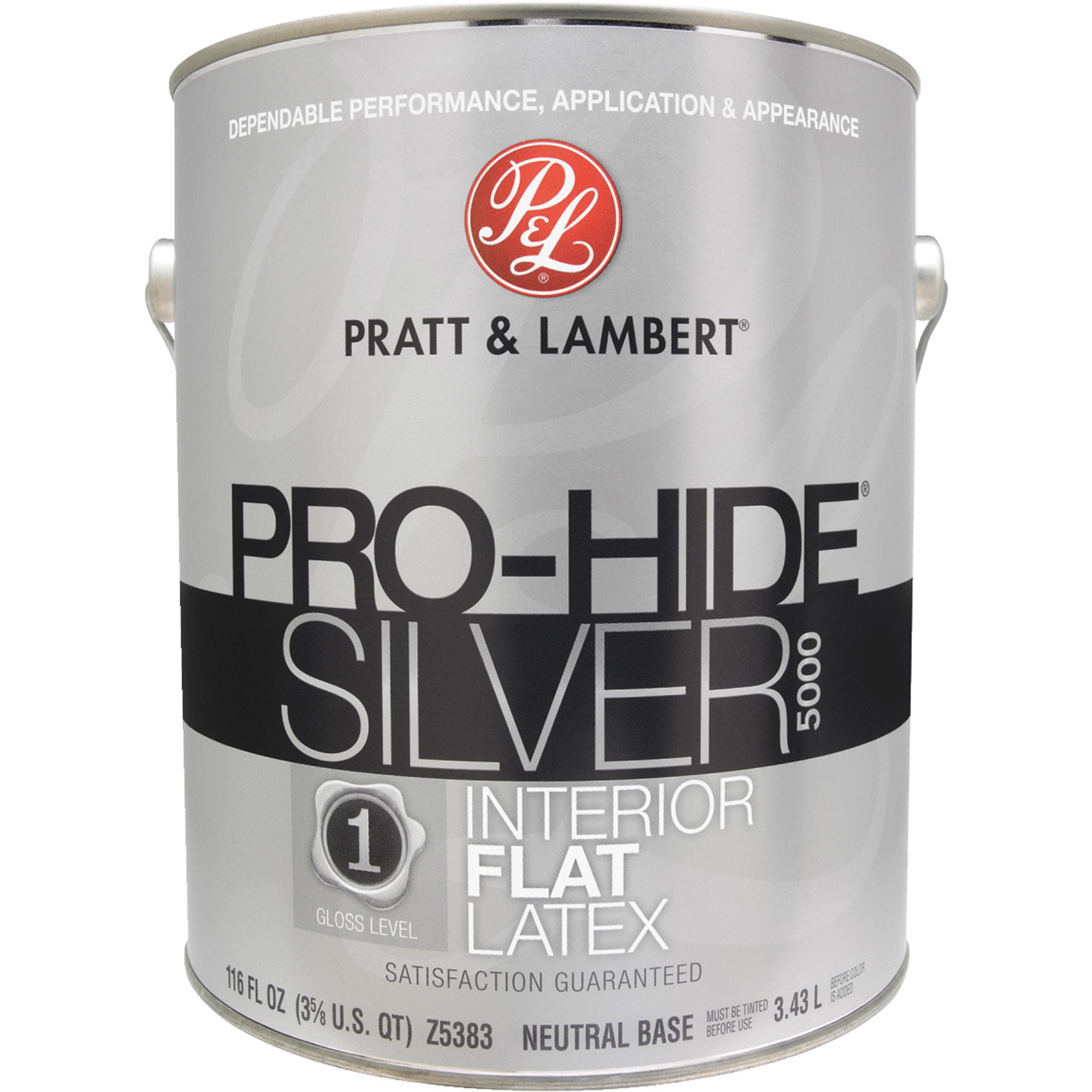 Pratt Lambert Pro Hide Silver 5000 Latex Flat Interior Wall Paint