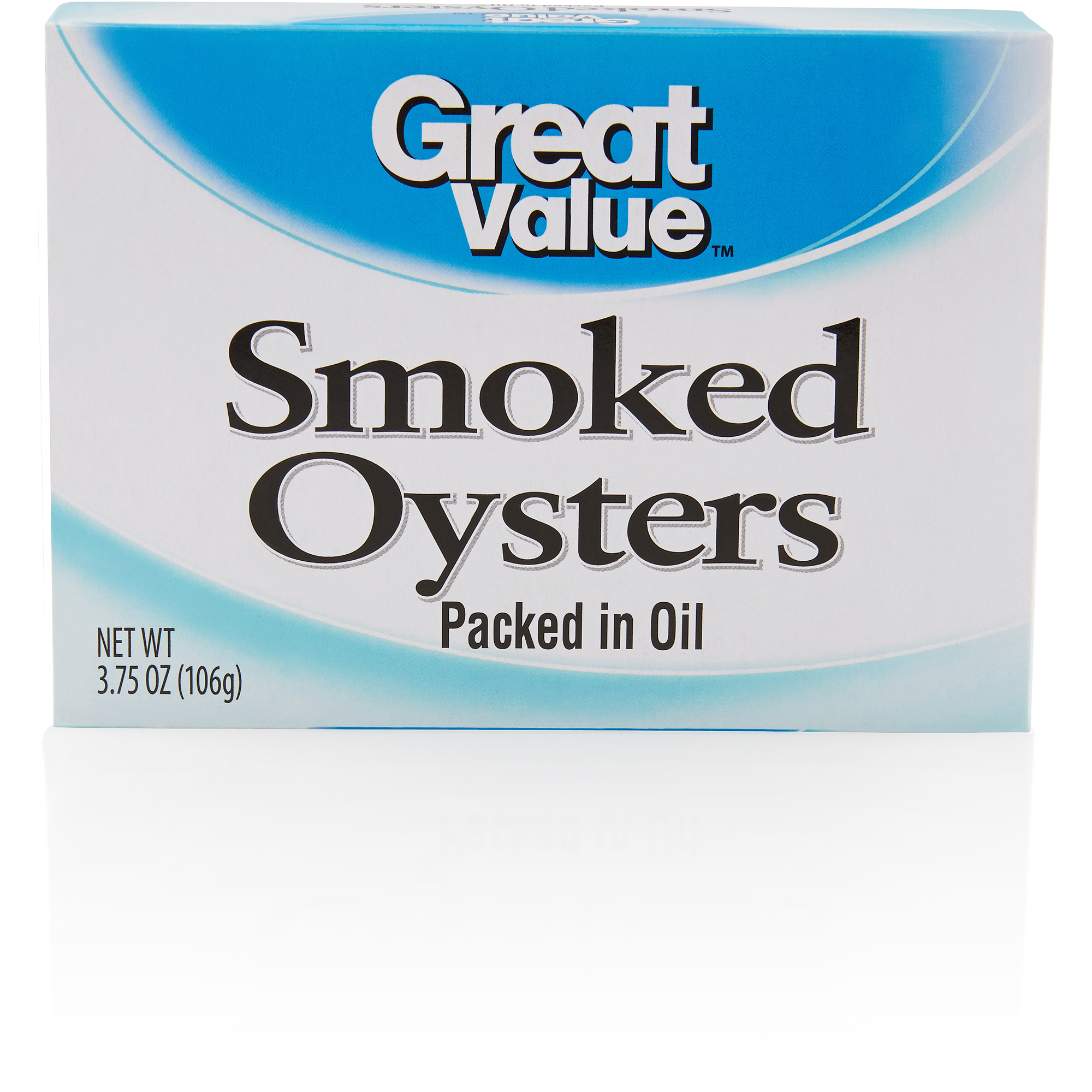 Great Value Smoked Oysters in Oil, 3.75 oz by Wal-Mart Stores, Inc.