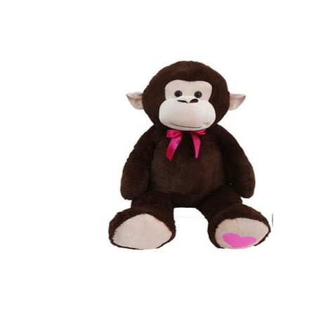 Way To Celebrate Valentine's Day 2XL Plush Monkey