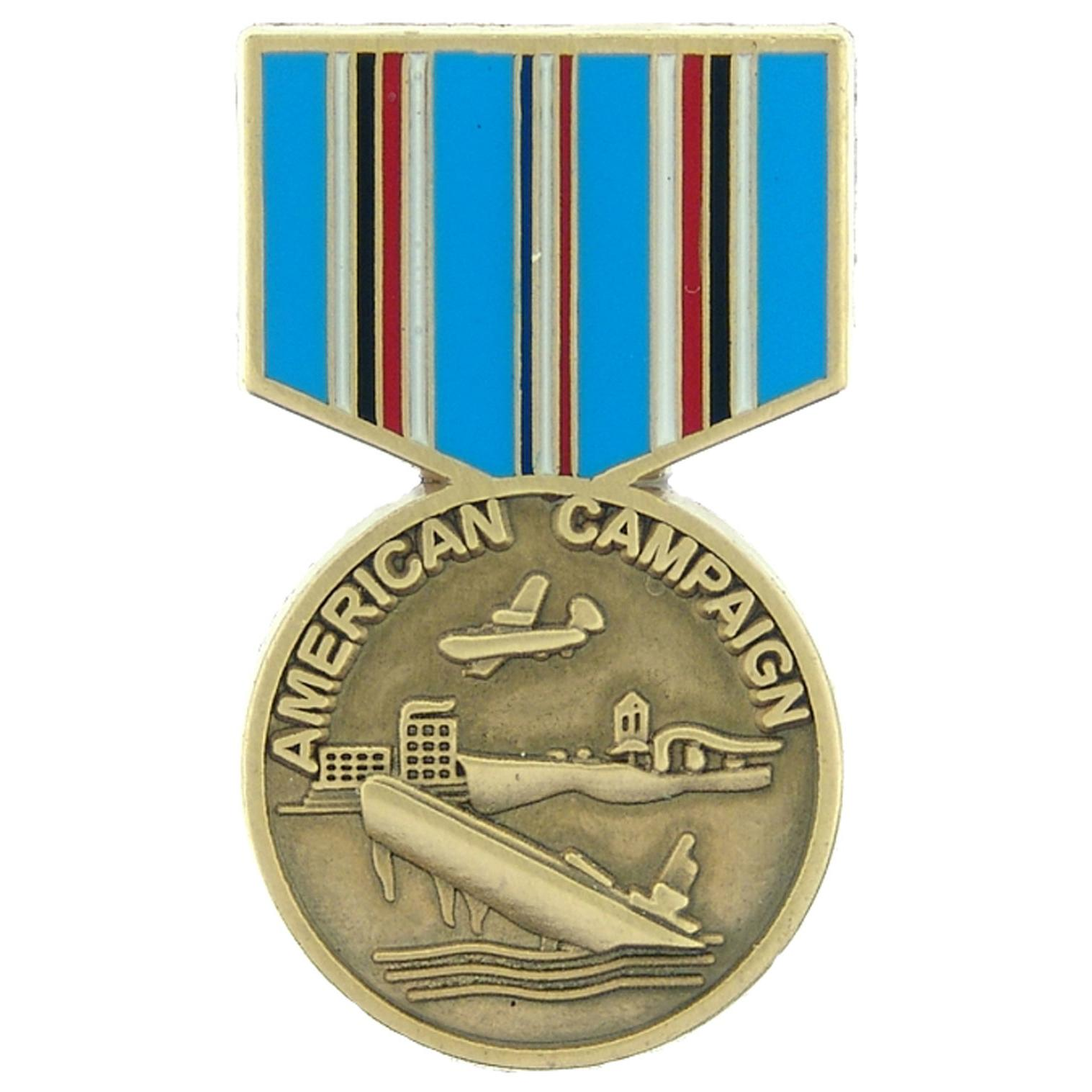 American Campaign Medal Pin 1 3/16""