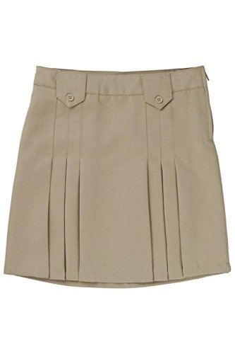 Adjustable Waist Front Tab Pleated Skirt (Little Girls & Big Girls)