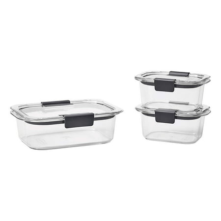 Rubbermaid Brilliance Food Storage Containers, 6-Piece Set