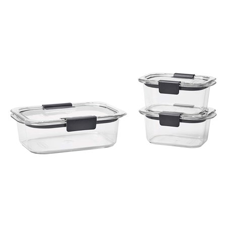 - Rubbermaid Brilliance Food Storage Containers, 6-Piece Set