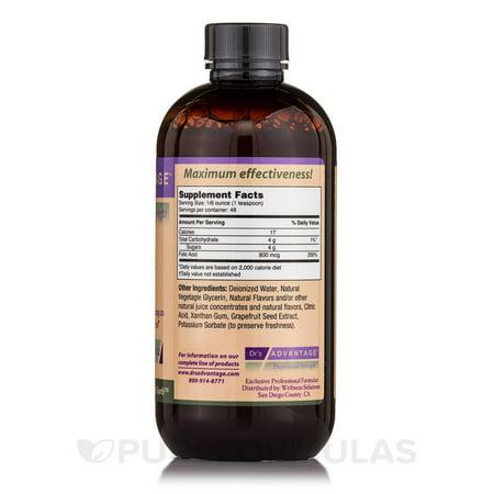 Acid Nutritional Supplement - Dr.'s Advantage, Liquid Folic Acid Supplement 8 oz