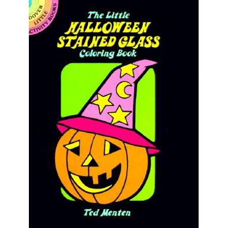The Little Halloween Stained Glass Coloring Book - Halloween Coloring Pages Cats