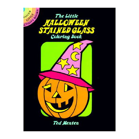 The Little Halloween Stained Glass Coloring Book - Halloween Colouring Book