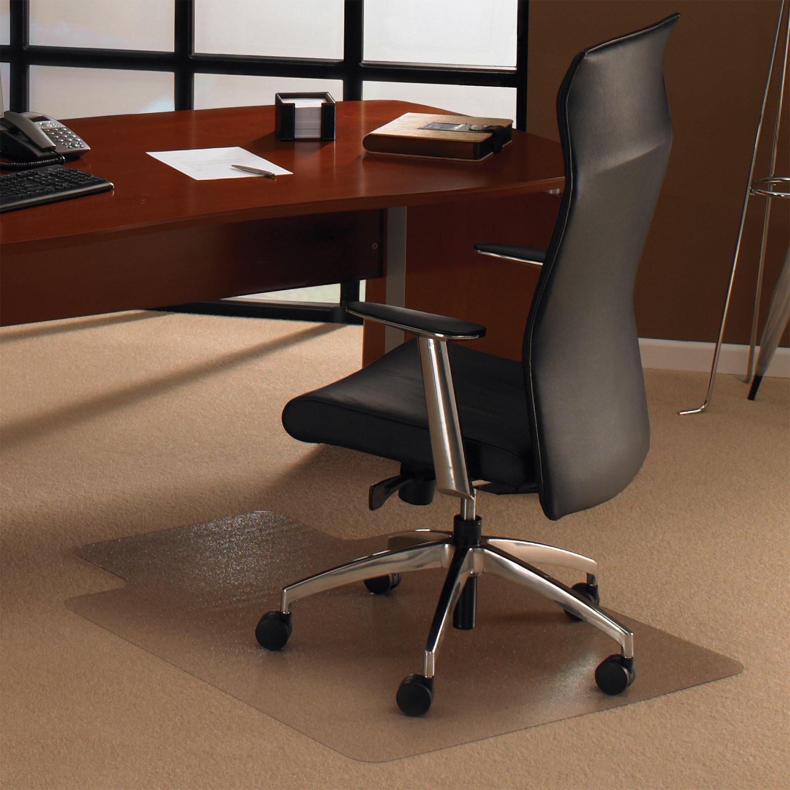 Floortex Ecotex Revolutionmat Rectangular Chair Mat with Lip for Carpet