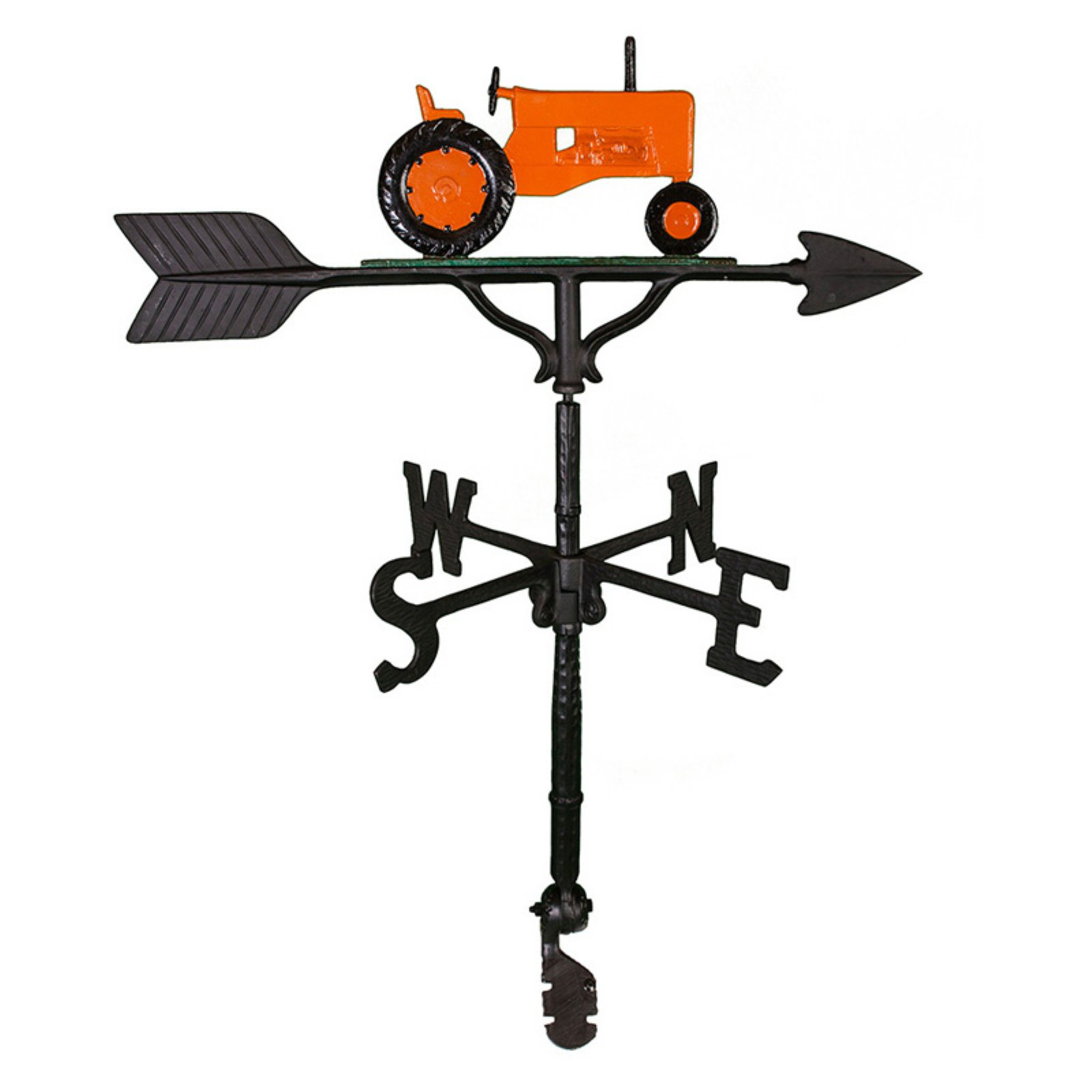 Orange Tractor Weathervane 32 in. by Montague Metal Products