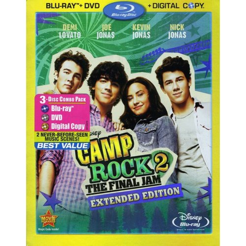 Camp Rock 2: The Final Jam Extended Edition (Three-Disc Blu-ray DVD Combo + Digital Copy) by DISNEY/BUENA VISTA HOME VIDEO