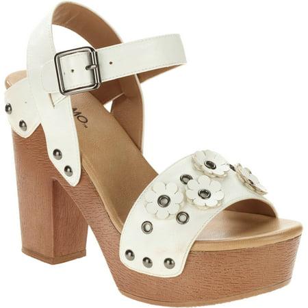 Mo Mo Womens Jamin Retro Wood Sandal