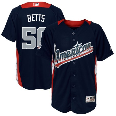 online store 37524 273e9 Mookie Betts American League Majestic Youth 2018 MLB All-Star Game Home Run  Derby Player Jersey - Navy
