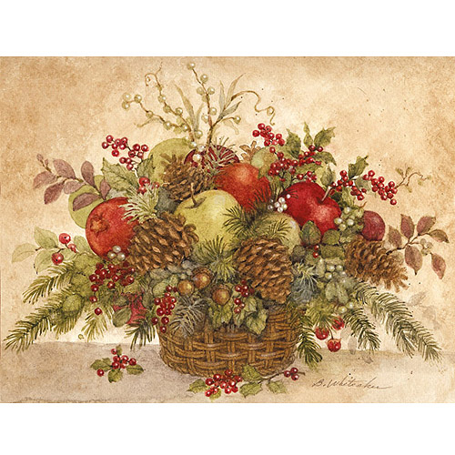 Lang Holiday Pine Basket Boxed Christmas Cards