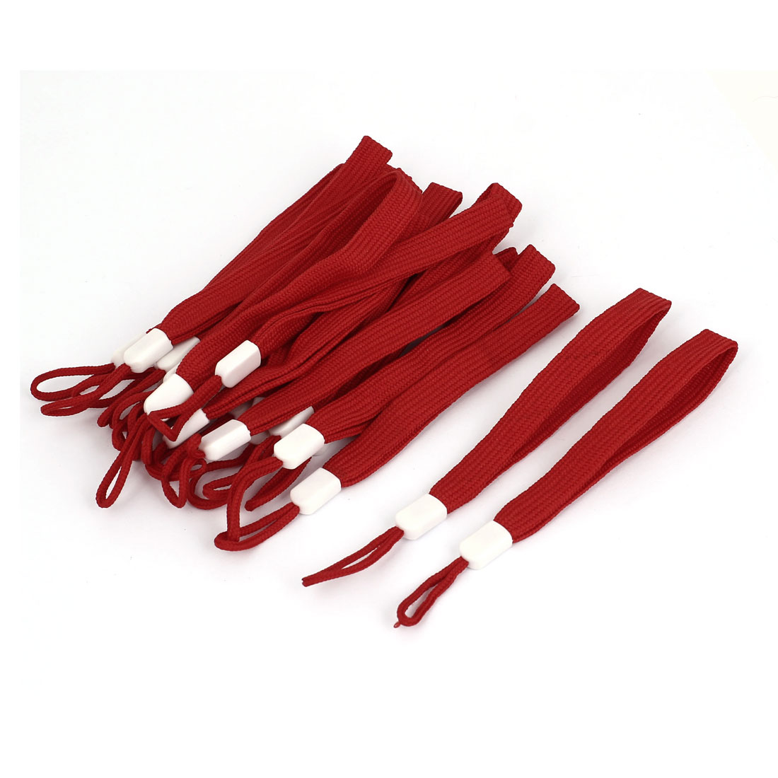 16cm Length Lanyard Strap Hang Rope 20Pcs Deep Red for Smartphone Selfie Stick