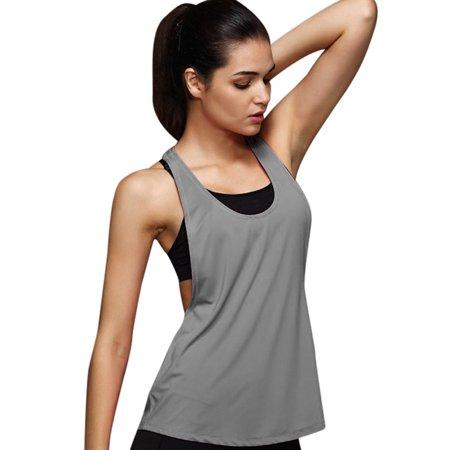 970873292cfc Women Summer Sexy Loose Gym Sport Vest Training Run GYM - Walmart.com