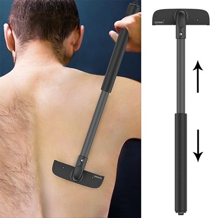 [2019 Upgraded]Back Shavers Body Razor for Men, Professional DIY Portable Painless Back Hair Removal Trimmer Body Groomer for Wet or Dry Trimmer Kit with Adjustable Extra-Long