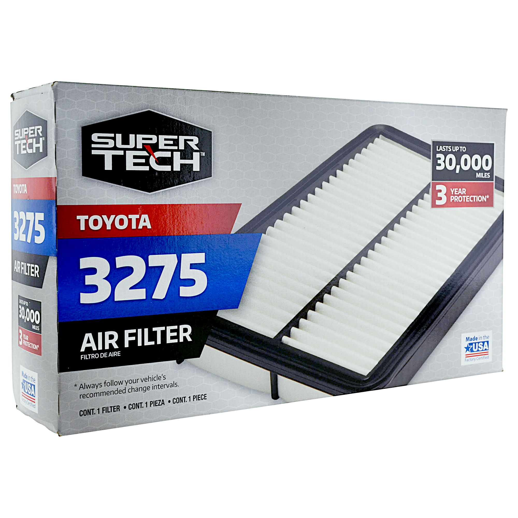 Supertech 3275 Engine Air Filter Replacement For Toyota