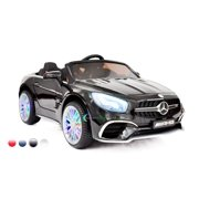 New 12V Mercedes AMG SL65 Ride on power electric ONE SEATER car For ONE Kid with MP4 Touch Screen Remote Control LED lights MP3 - Black
