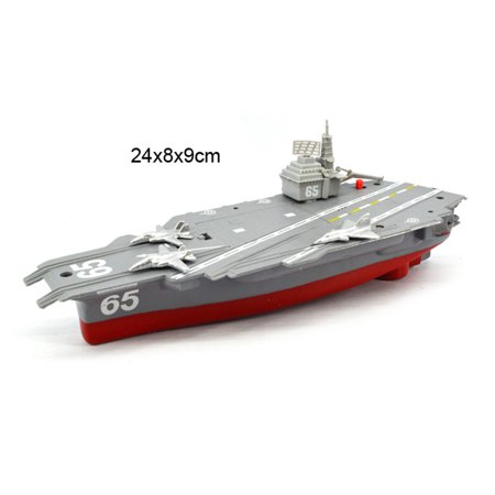 Battery Powered Aircraft Carrier Toys with Sound and Light Floating Electric Ship Toy Gift for