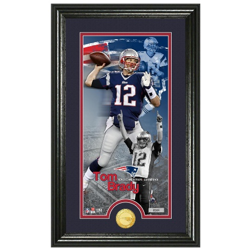 NFL Framed Wall Art by The Highland Mint, Supreme - Tom Brady