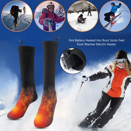 Men Women Cotton Heated Warm Socks Battery Powered Winter Thermal Heating Foot Socks