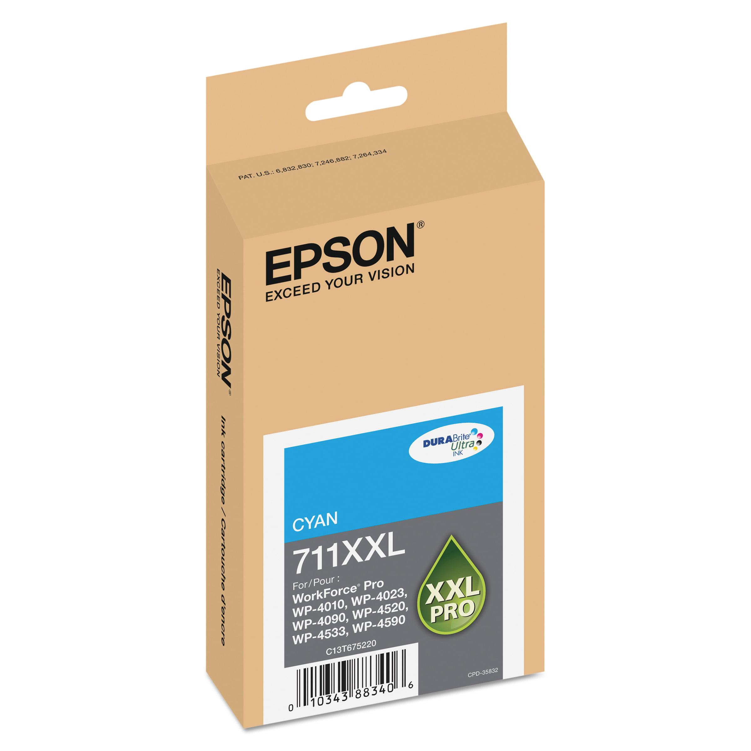 Epson T711XXL220 (711XL) DURABrite Ultra High-Yield Ink, Cyan by Epson