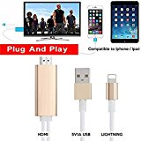 Airplay Phone to TV Dock to HDMI HDTV Audio Video USB Cha...