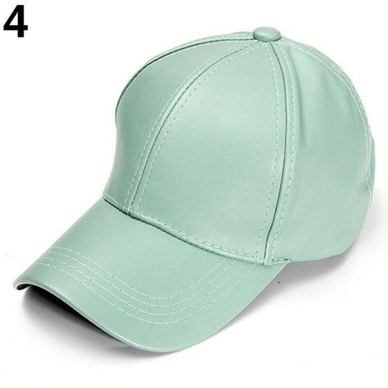 f36e77ae Heepo - Heepo Men's Women's Plain Macaron Color Faux Leather Sports ...