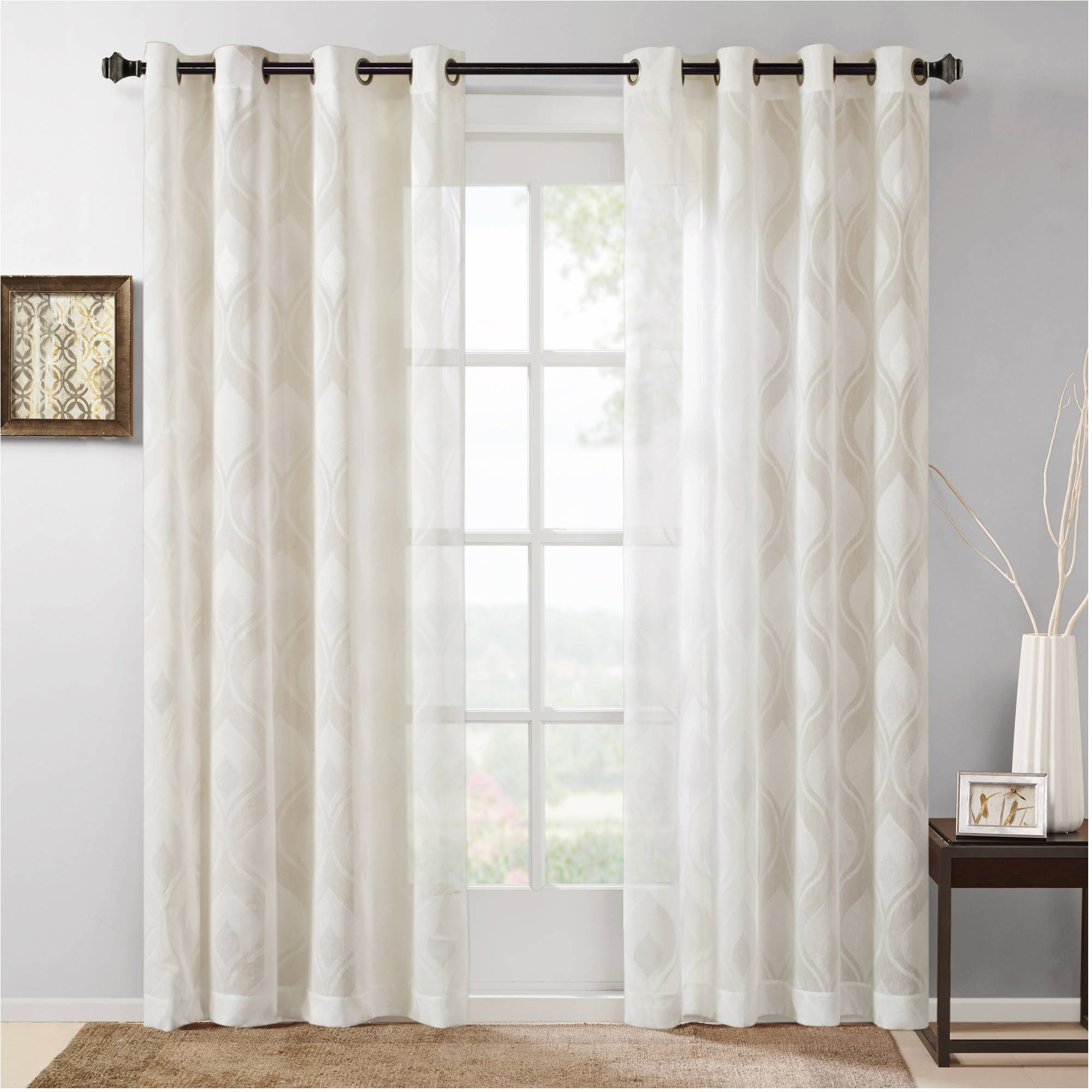 Home Essence Caris Sheer Ogee Jacquard Window Panel