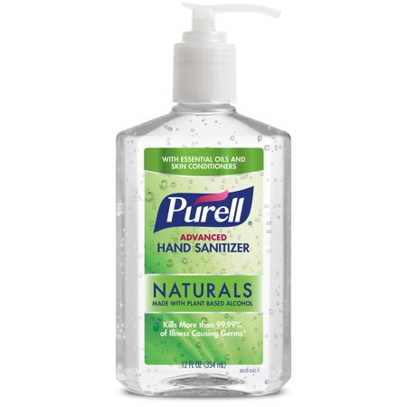 (Pack of 2) PURELL Advanced Hand Sanitizer Naturals with Plant Based Alcohol, Citrus Scent, 12 Oz