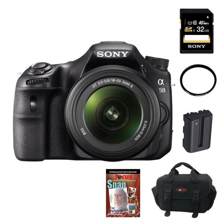 Sony SLT-A58K with 18-55mm Zoom Lens Plus Sony 32GB Deluxe Accessory Kit with Lightroom