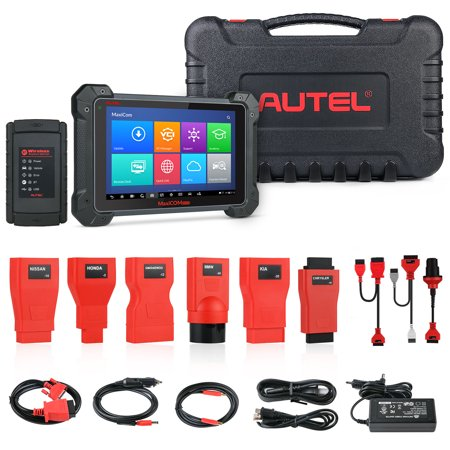 Autel MK908 Ultimate Wireless Automotive Scan Tool with ADAS,ECU Coding,Full Bi-Directional Control,ABS Brake Bleed,OE-Level All Systems Diagnosis OBD2 Scanner, Advanced Ver. of MS908 MS906 (Anti Lock Brake System Abs Diagnostic Scan Tool)