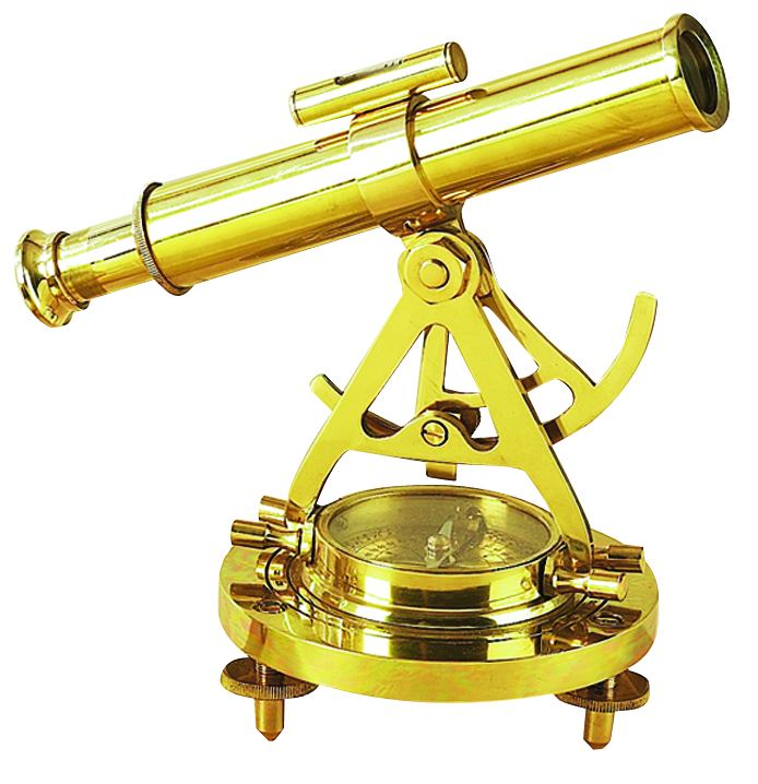 Brass Telescope Compass Feel The Distant Objects Nearer