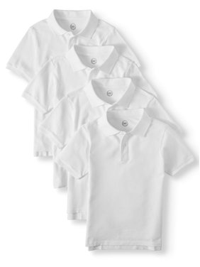 98bf828c4 Product Image School Uniform Short Sleeve Pique Polos, 4-piece Multipack  (Little Boys & Big