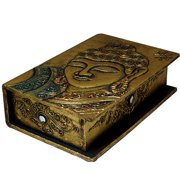 Stoneage Arts Hand-carved Goldtone Buddha Book-style Box, Handmade in Indonesia
