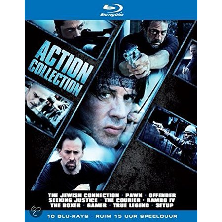 Action Collection - 10-Disc Box Set ( The Jewish Connection (Holy Rollers) / Pawn / Offender / Seeking Justice / The Courier / Rambo (Rambo IV) / Unrivaled [ Blu-Ray, Reg.A/B/C Import - Netherlands ] ()