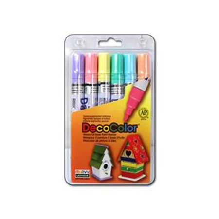 Decocolor Pens (MARVY UCHIDA DECOCOLOR BROAD PAINT MARKER SET/6 PASTEL )
