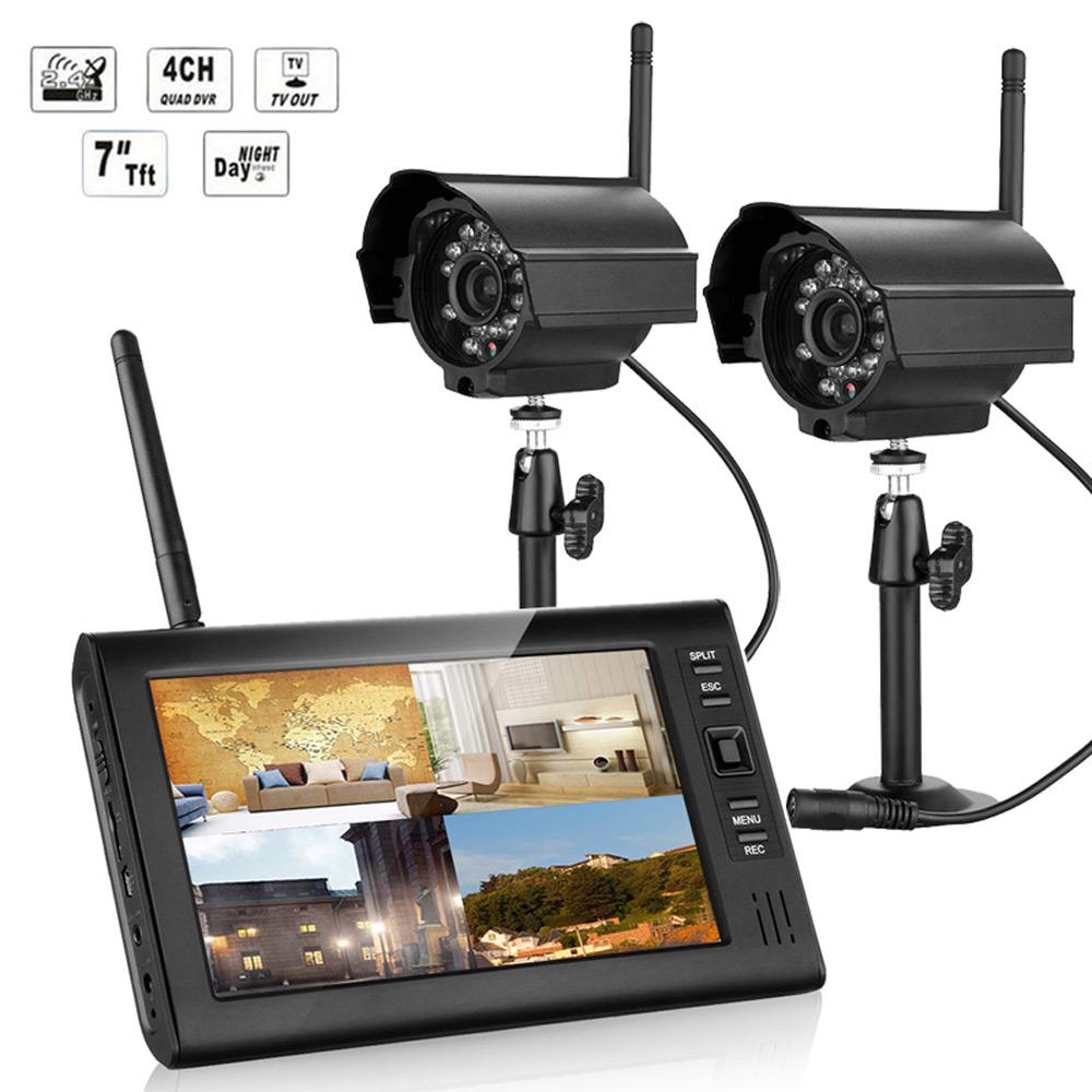 "Ktaxon Wireless 2.4GHZ 7""TFT LCD 4CH DVR Home IR CCTV Sec..."