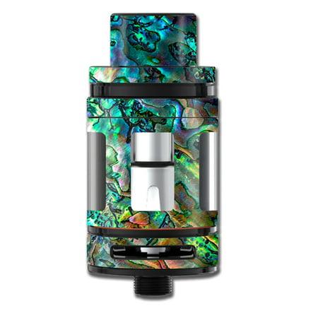 - Skin Decal For Smok Tfv8 Big Baby Beast Tank Vape / Abalone Shell Swirl Neon Green Opalescent