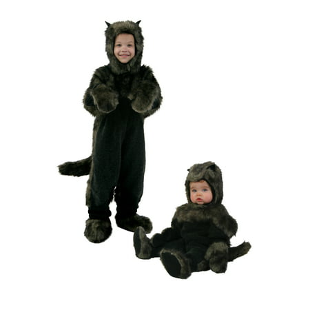 Cute Baby And Dog Halloween Costumes (Toddler Black Dog Costume)
