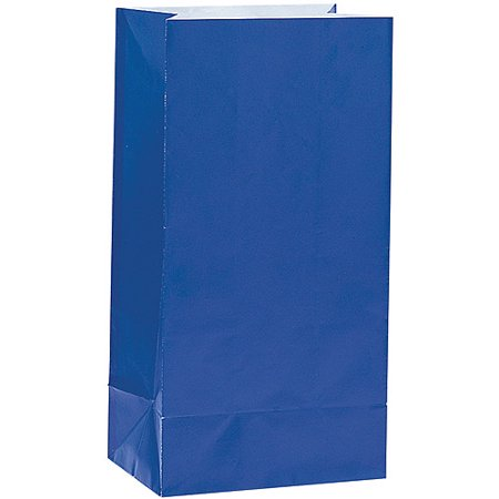 Paper Luminary & Party Bags, Royal Blue, 12ct (Yellow Gold Venetian Box)
