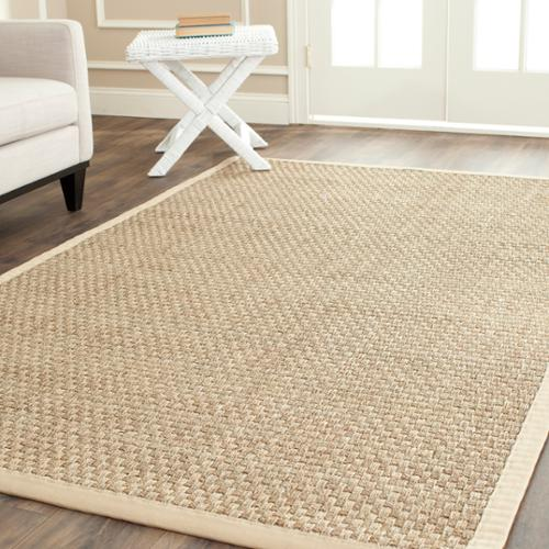 Safavieh  Casual Natural Fiber Natural and Beige Border Seagrass Rug (8' x 10')