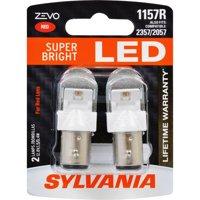 SYLVANIA 1157R ZEVO LED Mini Bulb, Contains 2 Red Bulbs