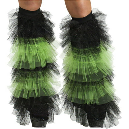 Ruffle Tulle Boot Covers Adult Halloween Accessory