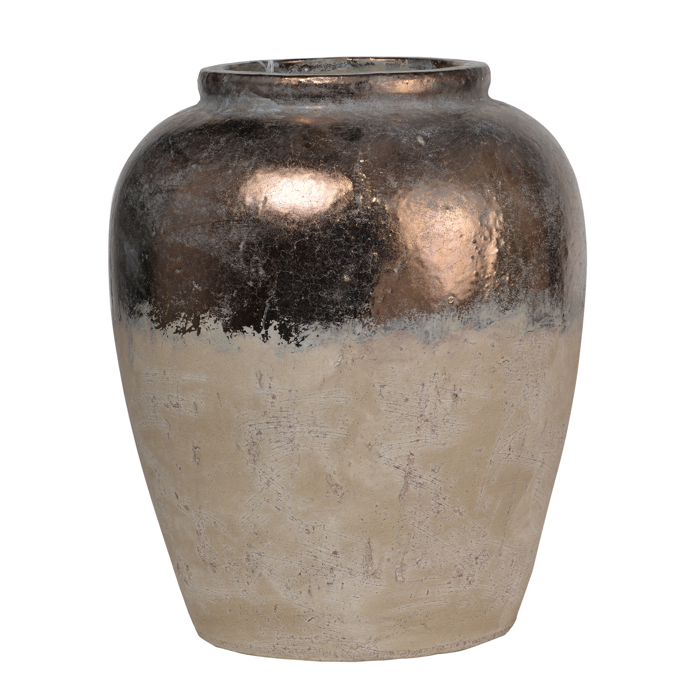 A&B Home Candia Ceramic Vase, Beige